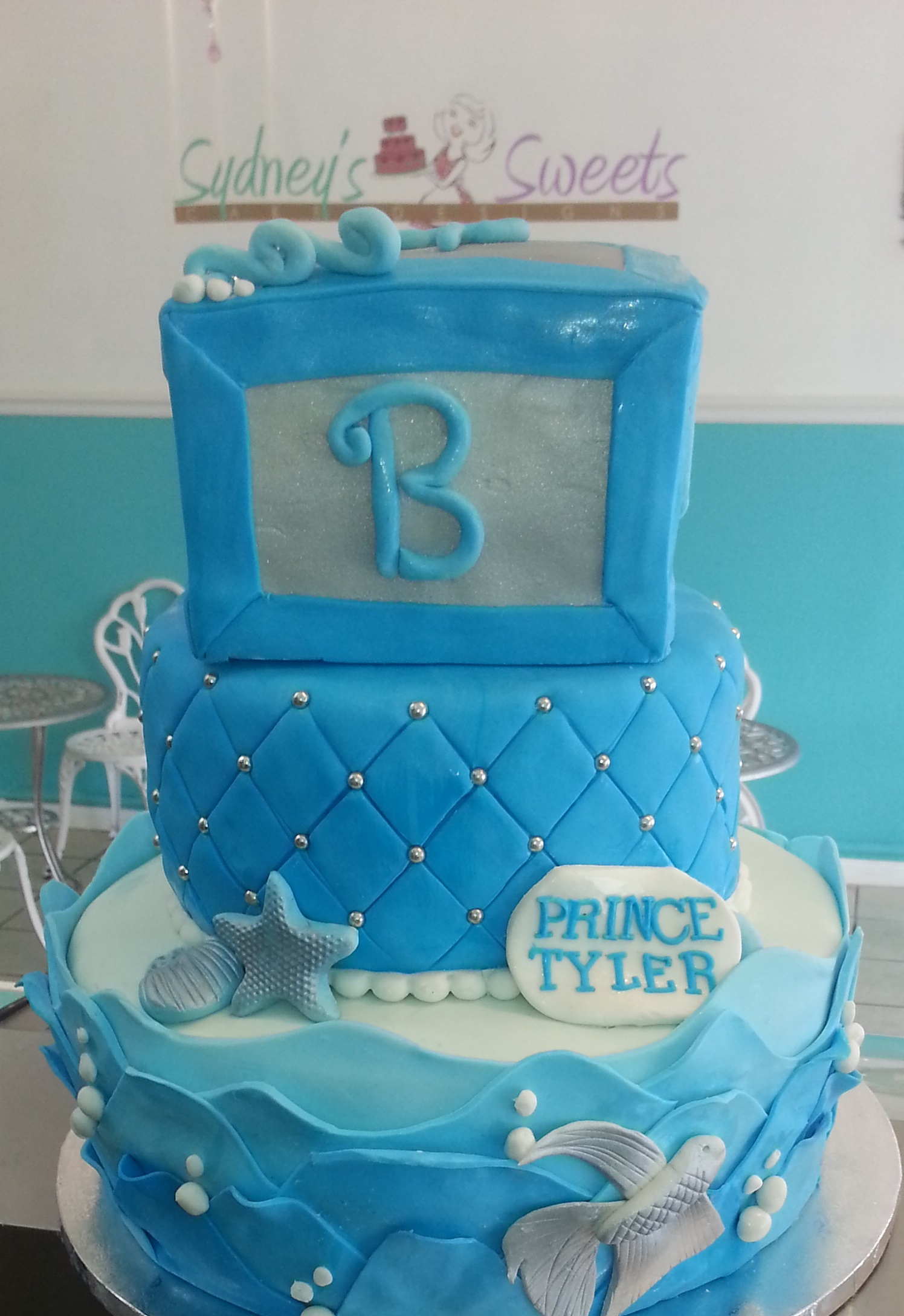sea themed baby shower cake sydneys sweets